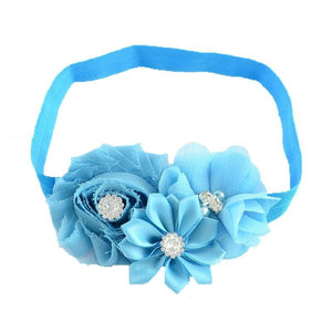 Pink Hippo Store Bouquet hair band Light Blue Light blue