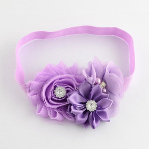 Pink Hippo Store Bouquet hair band Purple Purple