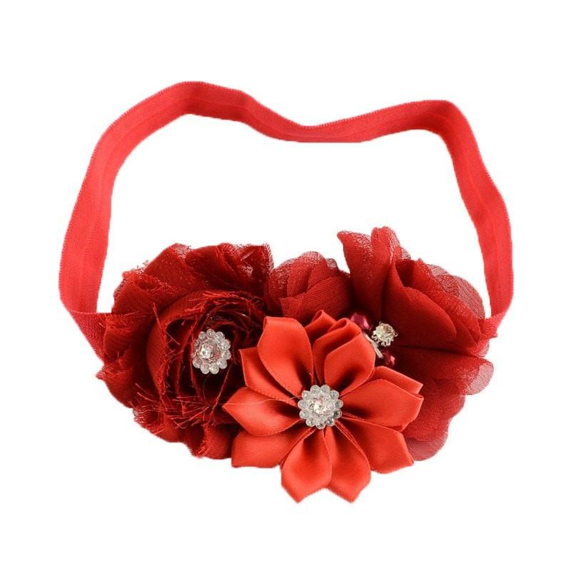 Pink Hippo Store Bouquet hair band Red Red