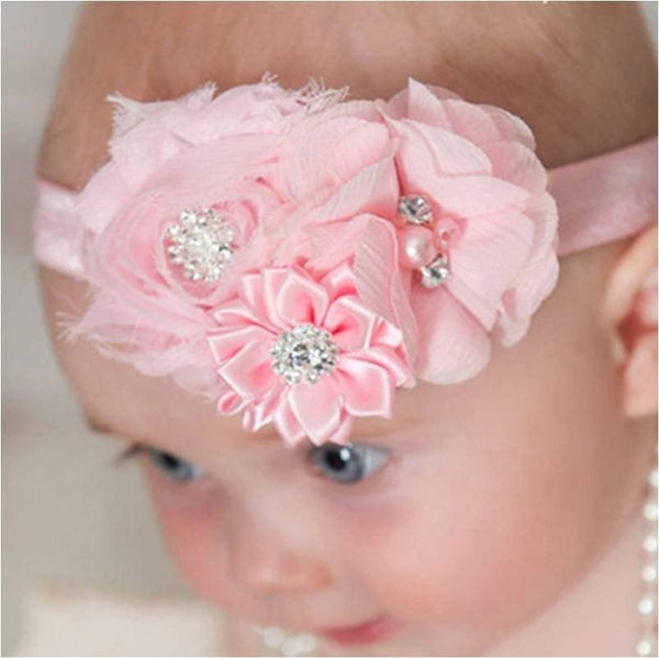 Pink Hippo Store Bouquet hair band White