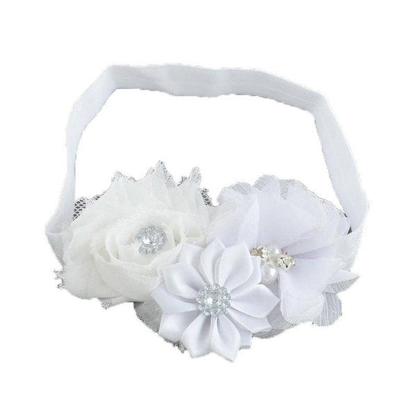 Pink Hippo Store Bouquet hair band White White
