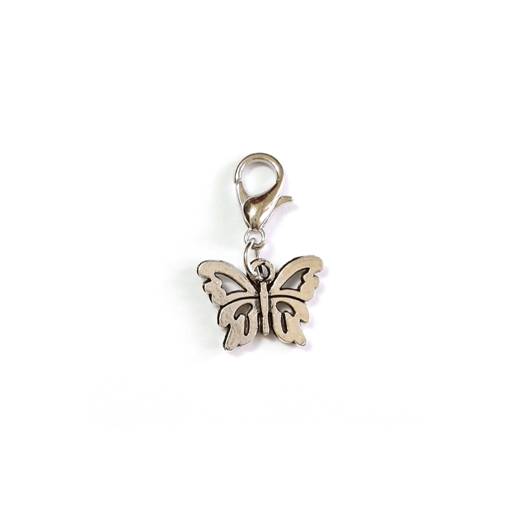 Pink Hippo Store Butterfly Antique charm