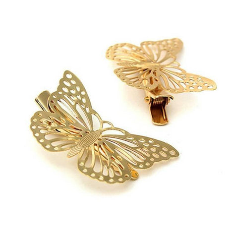 Pink Hippo Store Butterfly hair pin