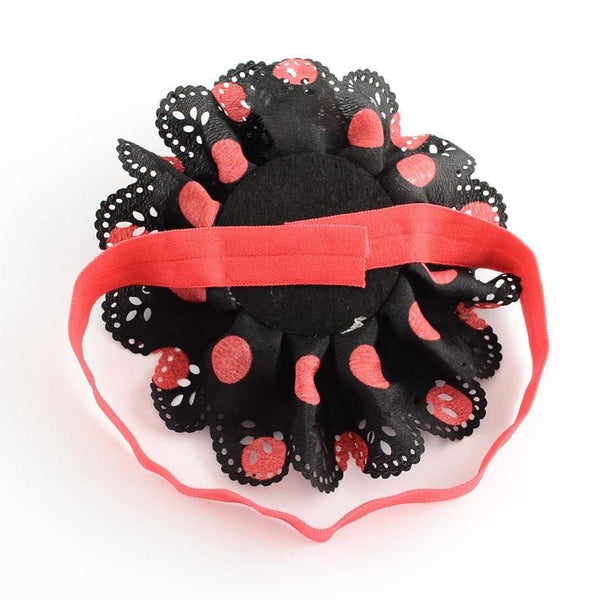 Pink Hippo Store Carnation hair band Black-Red