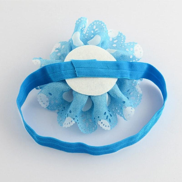 Pink Hippo Store Carnation hair band Blue-White
