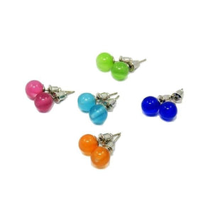 Pink Hippo Store Cat Eye Ball Stud earrings Set of Five