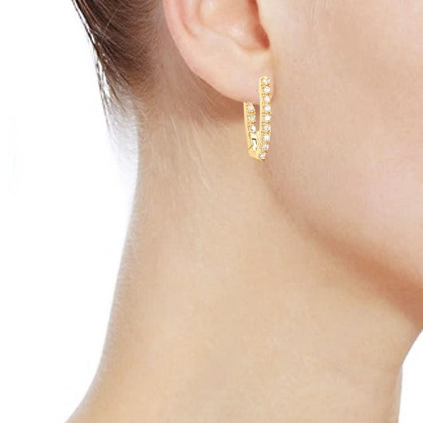 Pink Hippo Store Cinderalla Hoop earrings Clear