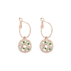 Pink Hippo Store Circle Crystal earrings