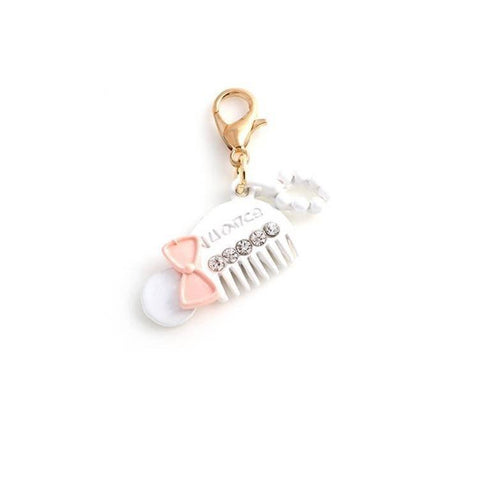 Pink Hippo Store Comb Enamel charm