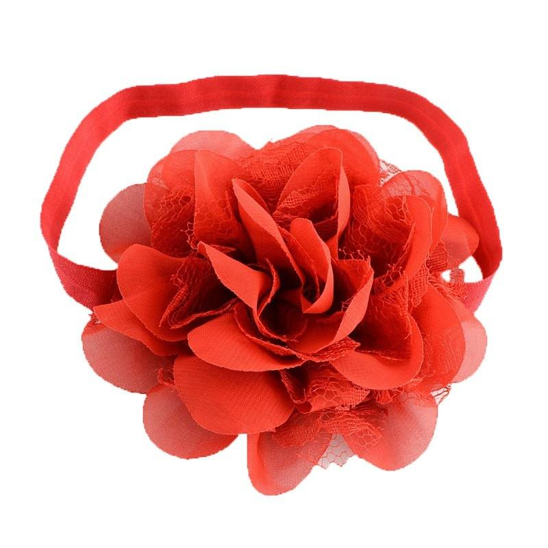 Pink Hippo Store Dahlia hair band Red Red