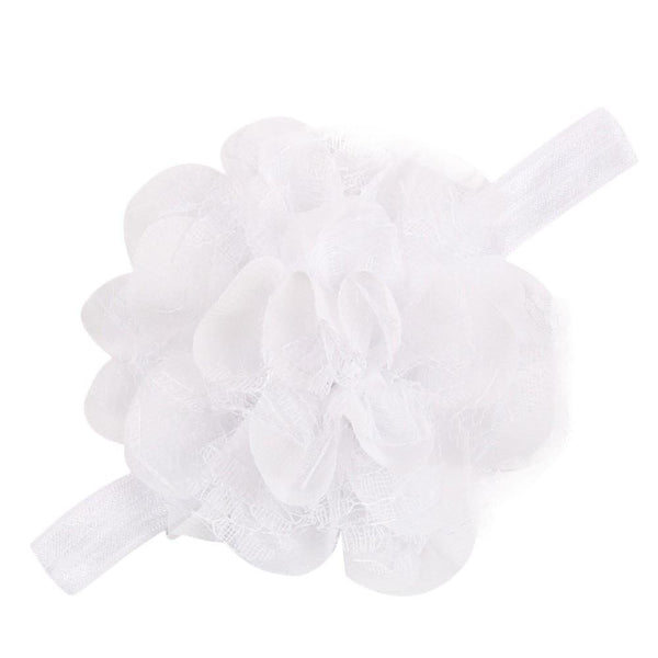 Pink Hippo Store Dahlia hair band White