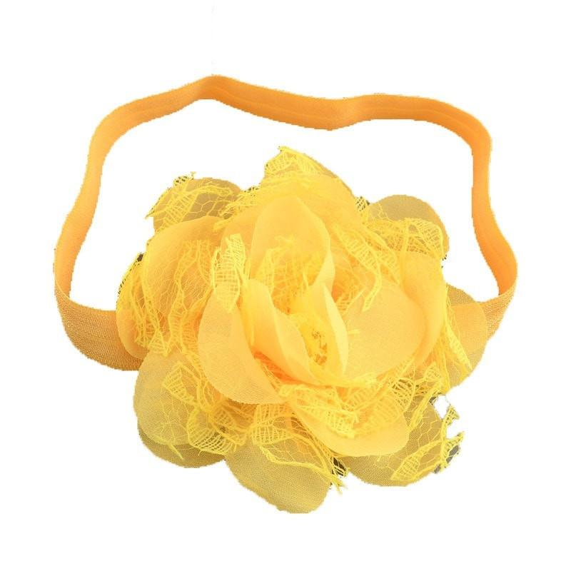 Pink Hippo Store Dahlia hair band Yellow Yellow