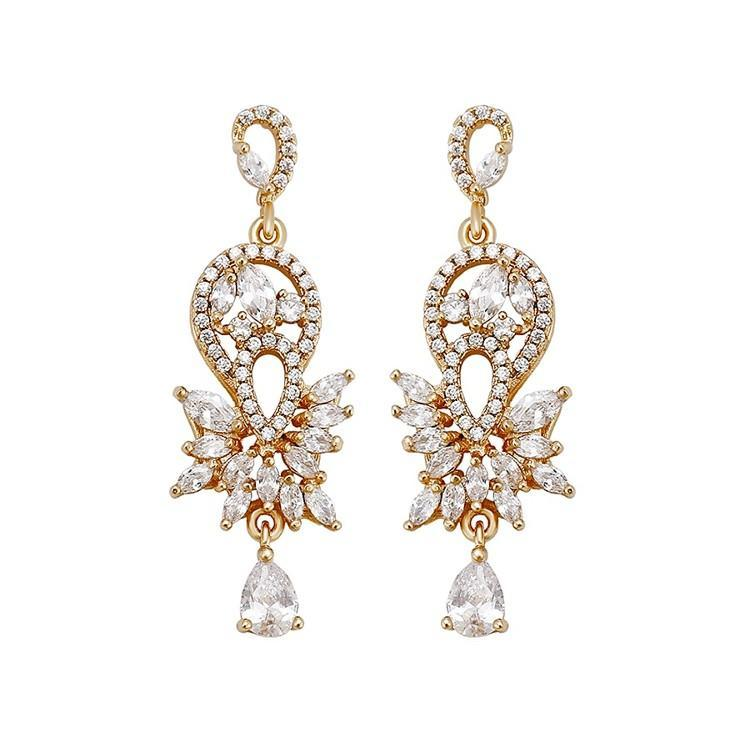 Pink Hippo Store Dazzle Zircon earrings Clear