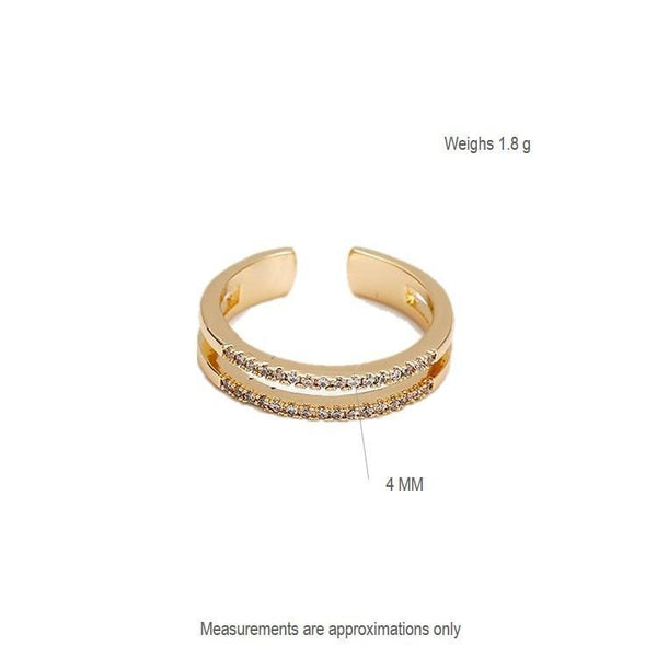 Pink Hippo Store Eternity Zircon Ring Clear
