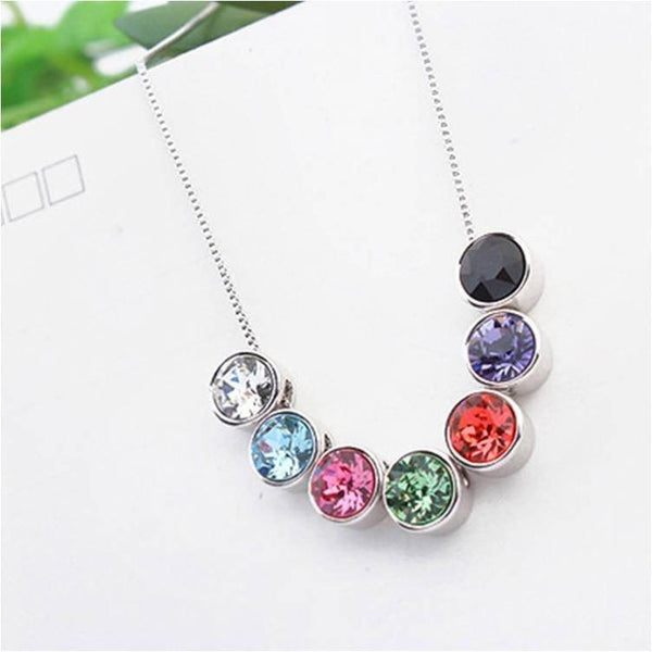 Pink Hippo Store Everyday a necklace Seven Set Multi Color