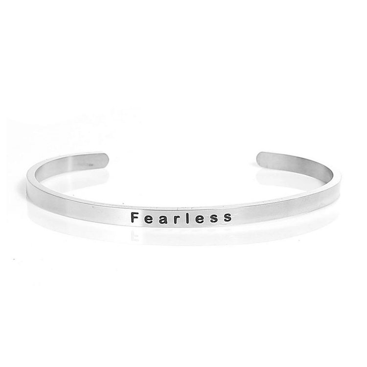 Pink Hippo Store Fearless Moi bracelet Silver