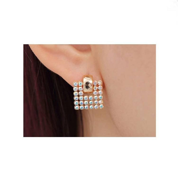 Pink Hippo Store Flag Crystal earrings