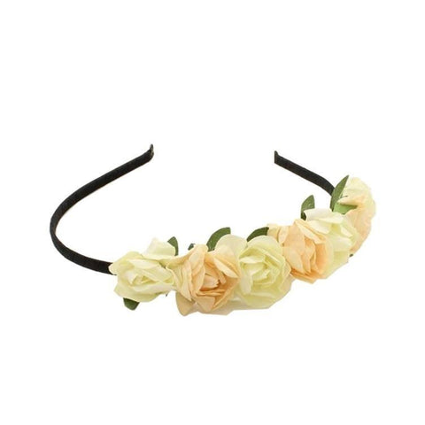 Pink Hippo Store Floral Bonanza Stick hair band White-Peach