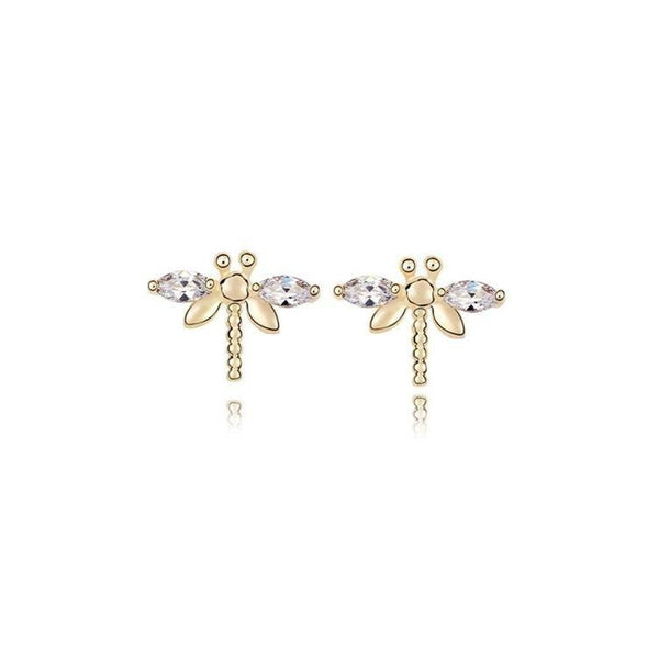 Pink Hippo Store Fly Crystal earrings Clear