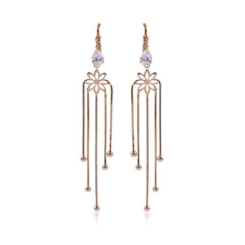 Pink Hippo Store Fountain Zircon earrings Clear