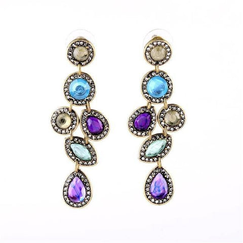 Pink Hippo Store Galaxy Rhinestone earrings Blue