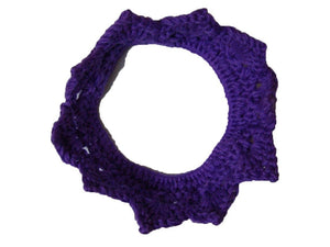 Pink Hippo Store Knitted cotton crown hair band Purple