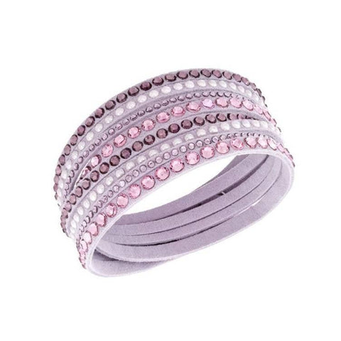 Pink Hippo Store Layered Crystal bracelet Light Pink