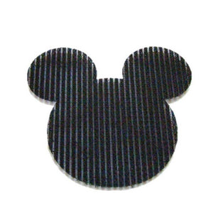 Pink Hippo Store Mickey Velcro hair pin Black