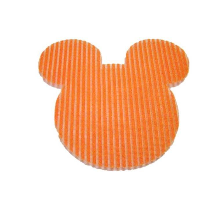 Pink Hippo Store Mickey Velcro hair pin Bright Orange