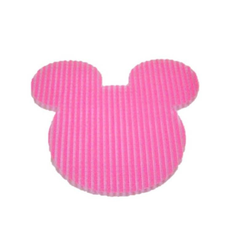 Pink Hippo Store Mickey Velcro hair pin Bright Pink