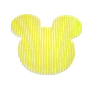 Pink Hippo Store Mickey Velcro hair pin Bright Yellow