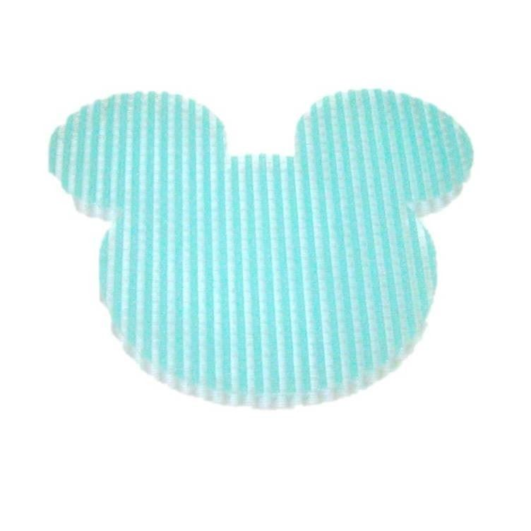 Pink Hippo Store Mickey Velcro hair pin Light Blue