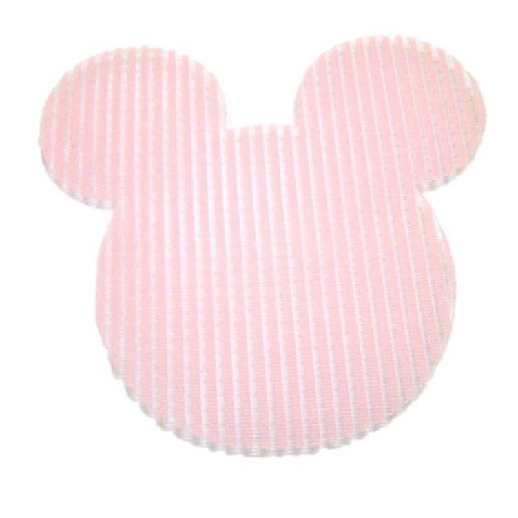 Pink Hippo Store Mickey Velcro hair pin Light Pink