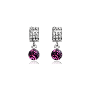 Pink Hippo Store Moon Crystal earrings