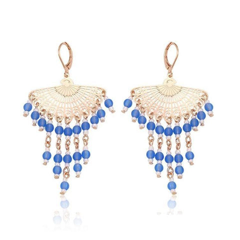 Pink Hippo Store Mughal Stories Bead earrings Blue