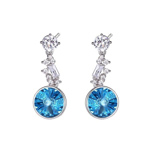 Pink Hippo Store Nysa Crystal earrings Blue