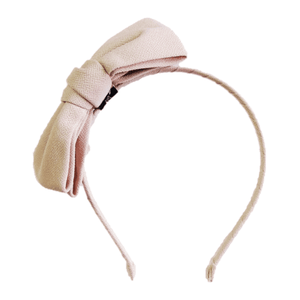 Oversized bow hair band Beige