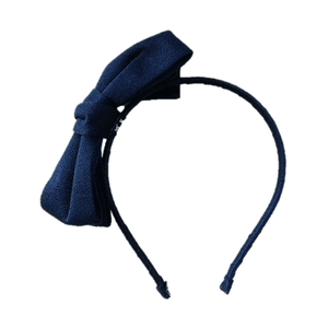 Oversized bow hair band Dark Blue