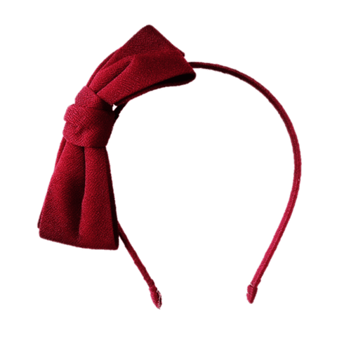 Oversized bow hair band Maroon