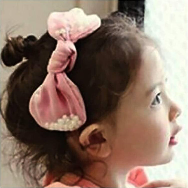 Pink Hippo Store Pearl filled bow hair band Pale Pink