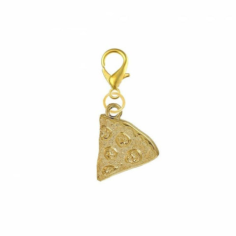 Pink Hippo Store Pizza Slice Gold charm