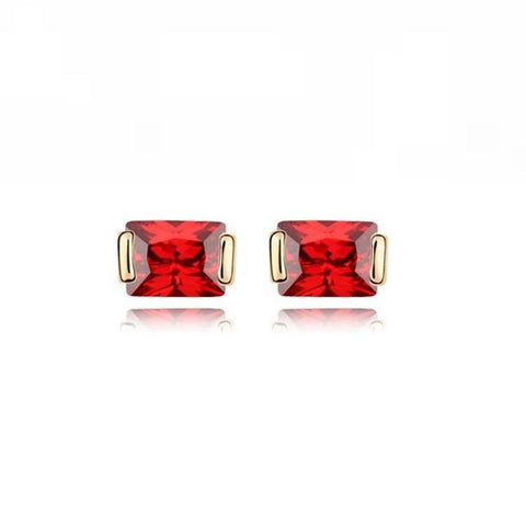 Pink Hippo Store Princess Zircon earrings Red