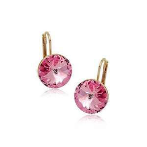 Pink Hippo Store Solitaire Round Crystal earrings