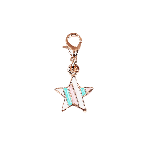 Pink Hippo Store Star Enamel charm