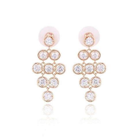 Pink Hippo Store Starry Connections Zircon earrings Clear