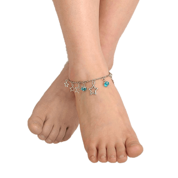 Pink Hippo Store Stones and Stars Charm anklet
