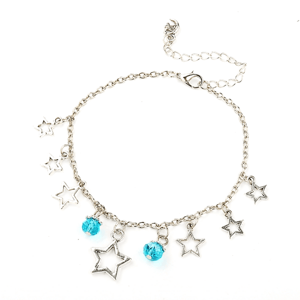Pink Hippo Store Stones and Stars Charm anklet Blue