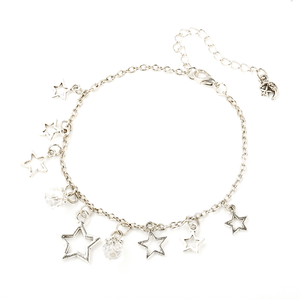 Pink Hippo Store Stones and Stars Charm anklet Clear