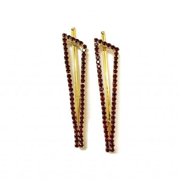 Triangle Rhinestone hair pin Combo