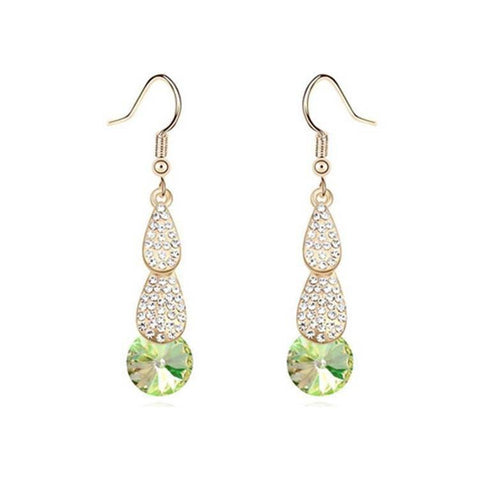 Pink Hippo Store Tulip Crystal earrings Green